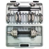 STAMINA Dumbell Set 15kg [ST-811-15C] - Chrome - Barbell / Dumbbell